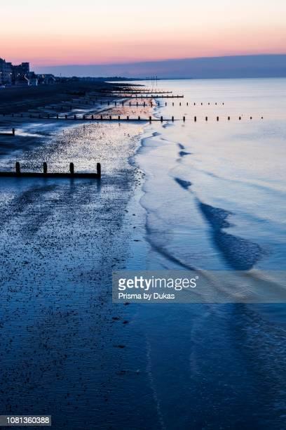England, West Sussex, Bognor Regis, Dawn over Bognor Regis Beach