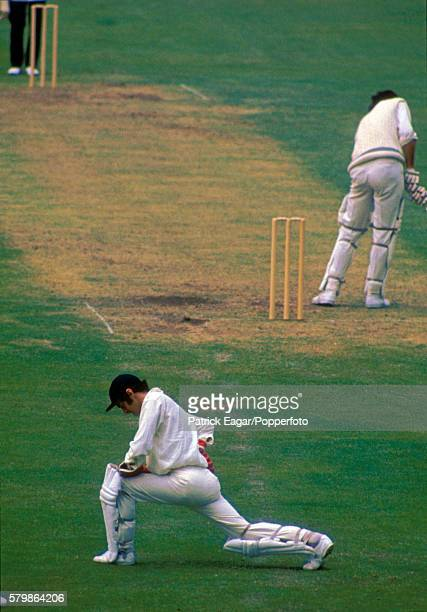 England wicketkeeper Alan Knott goes through some stretching exercises during the 1st Test match between England and New Zealand at Trent Bridge...