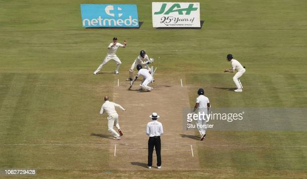 England wicketkeeper Ben Foakes stumps Sri Lanka batsman Kaushal Silva off the bowling of Jack Leach during Day Four of the Second Test match between...