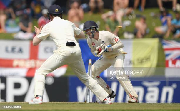 England wicketkeeper Ben Foakes stumps Sri Lanka batsman Kaushal Silva during Day Four of the Second Test match between Sri Lanka and England at...