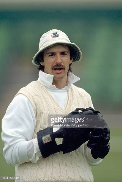England wicketkeeper Jack Russell during the 3rd Test match between England and the West Indies at Trent Bridge in Nottingham, 5th July 1991. West...
