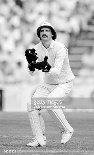 England wicketkeeper Jack Russell during the 3rd Test match between England and India at the Oval in London, 23rd August 1990. The match ended in a...