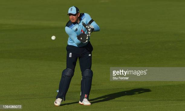 England wicketkeeper Jonny Bairstow in action during the Third One Day International between England and Ireland in the Royal London Series at The...
