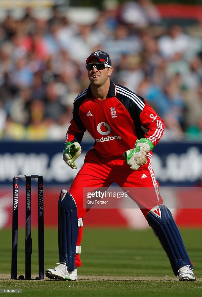 England wicketkeeper Matt Prior in action during the 7th NatWest ODI between England and Australia at The Riverside on September 20, 2009 in Chester-le-Street, England.