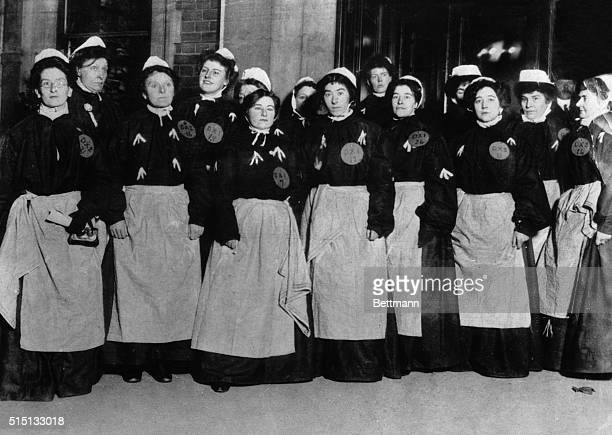 Woman Suffrage is so taken for granted today that it is hard to realize that these women are wearing prison garb for their part in fighting for it...