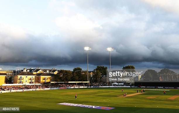 England Women and South Africa Women play at the Ford County Ground during the NatWest Women's International T20 match between on September 1 2014 in...
