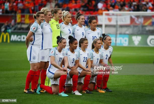 England Women team group photo before the UEFA Women's Euro 2017 semi final match between Netherlands and England at De Grolsch Veste Stadium on...