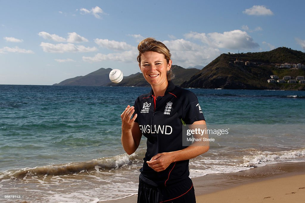 England womens cricket captain Charlotte Edwards poses on May 5, 2010 in St Kitts, Saint Kitts And Nevis.