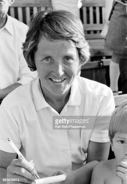 England Women's cricket captain Rachael HeyhoeFlint during a Lord's Taverners match at Edgbaston Birmingham 18th June 1978 HeyhoeFlint was...