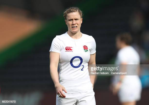 England Women's Danielle Waterman during the Women's Six Nations Round 4 match between England Red Roses and Scotland Women at Twickenham Stoop on...