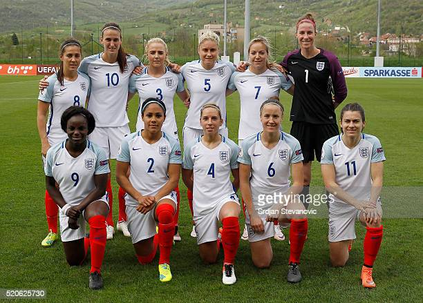 England women's national team Fara Williams Jill Scott Alex Greenwood Steph Houghton Gemma Davison and Karen Bardsley and Eniola Aluko Alex Scott...