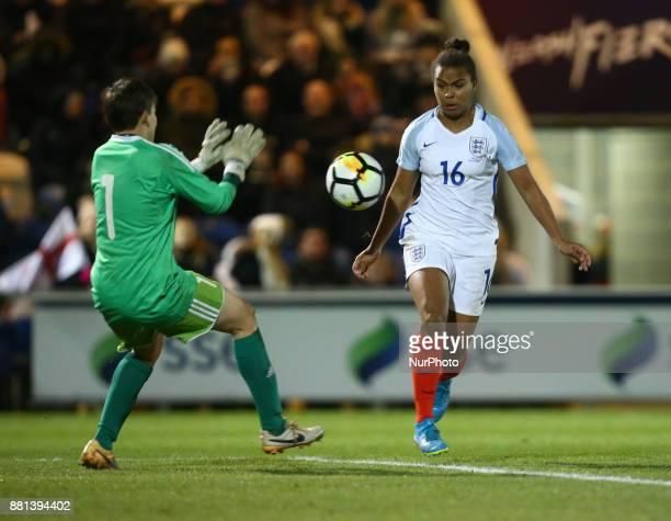 England Women's Nikita Parris during 2019 FIFA Women's World Cup Qualifier match between England Women and Kazakhstan Women at Weston Homes Community...