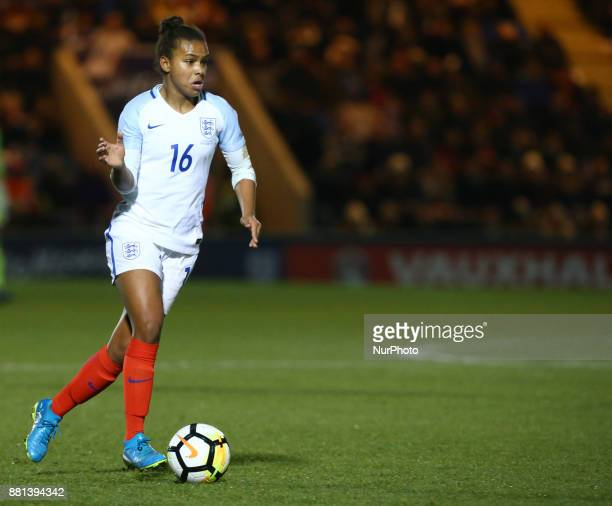 England Women's Nikita Parris in action during todays match during 2019 FIFA Women's World Cup Qualifier match between England Women and Kazakhstan...
