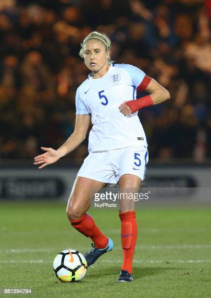 England Women's Steph Houghton in action during todays match during 2019 FIFA Women's World Cup Qualifier match between England Women and Kazakhstan...