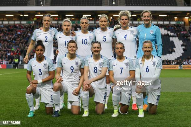 England Women's Team during International Friendly match between England Women and Austria Women at Stadium MK Milton Keynes on 10 April 2017