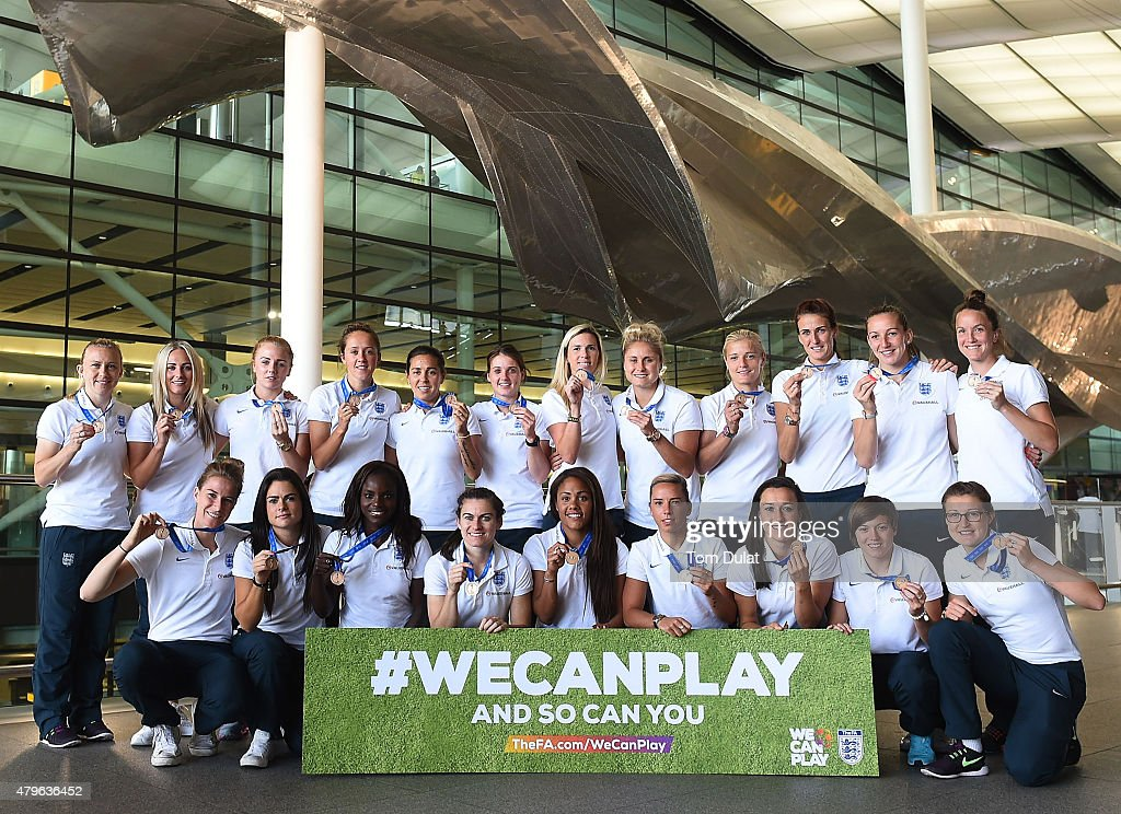 England Women's Team Arrive Back from the World Cup : News Photo