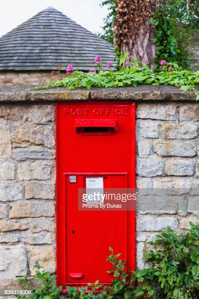 England Worcestershire Cotswolds Broadway Red Letterbox