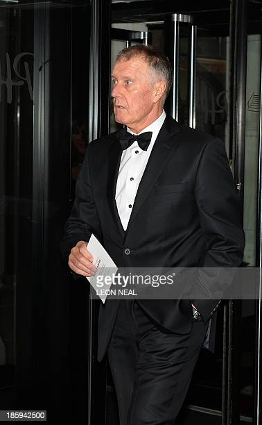 England World Cup team member Geoff Hurst arrives to attend The Football Association's 150th Anniversary Gala Dinner at the Grand Connaught Rooms in...
