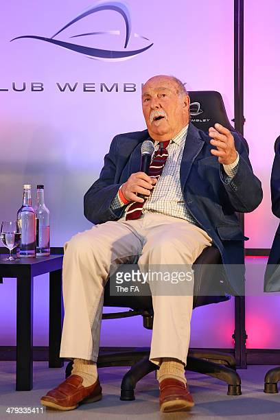 England World Cup winner Jimmy Greaves takes part in a Club Wembley business breakfast event prior to the unveiling of the FIFA World Cup at Wembley...