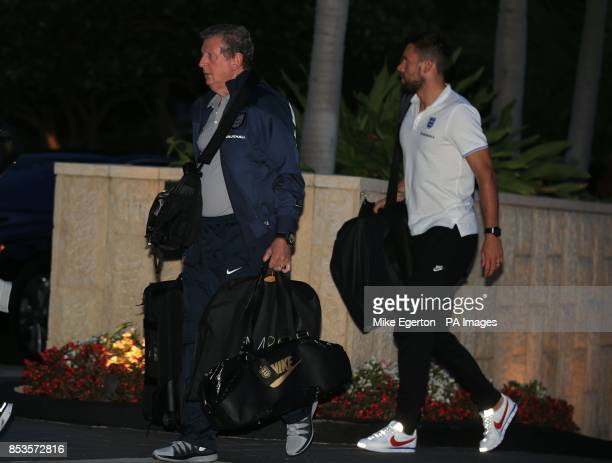 Englandd manager Roy Hodgson arrives at the Mandarin Oriental Hotel in Miami USA