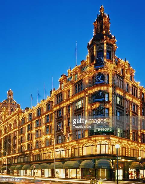England,London,Knightsbridge, Harrods department store,dusk