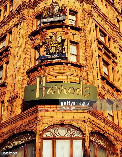 England,London,Knightsbridge,view of corner of Harrods building