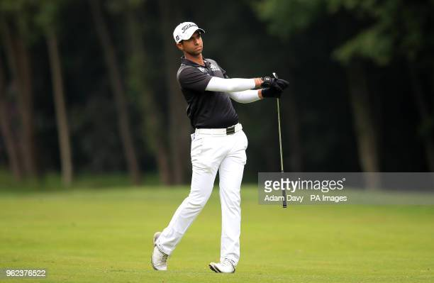 England's Aaron Rai on the 16th fairway during day two of the 2018 BMW PGA Championship at Wentworth Golf Club Surrey