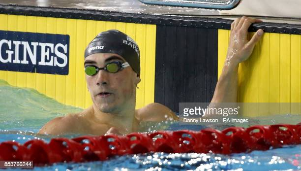 England's Adam Barrett after winning the Men's 100m Butterfly Semifinal 1 at Tollcross Swimming Centre during the 2014 Commonwealth Games in Glasgow