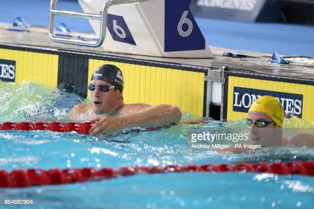 England's Adam Brown following the 50m Freestyle Semifinal at Tollcross Swimming Centre during the 2014 Commonwealth Games in Glasgow