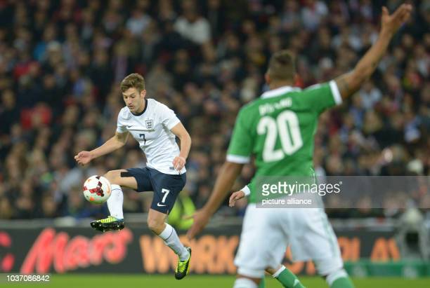England's Adam Lallana controls the ball during the friendly soccer match between England and Germany at Wembley Stadium in London England 19...
