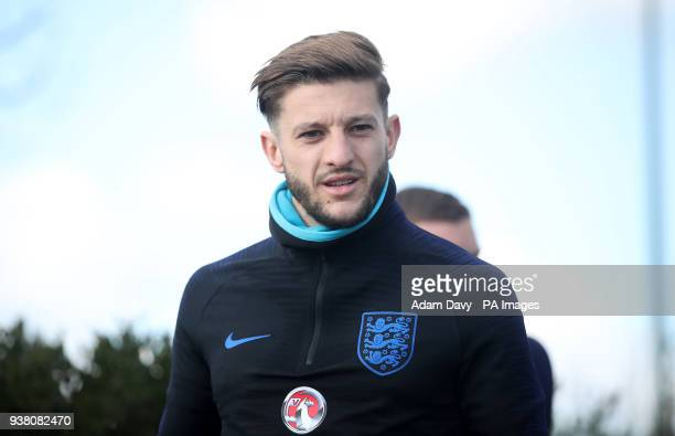 England's Adam Lallana during a training session at Enfield Training Ground London