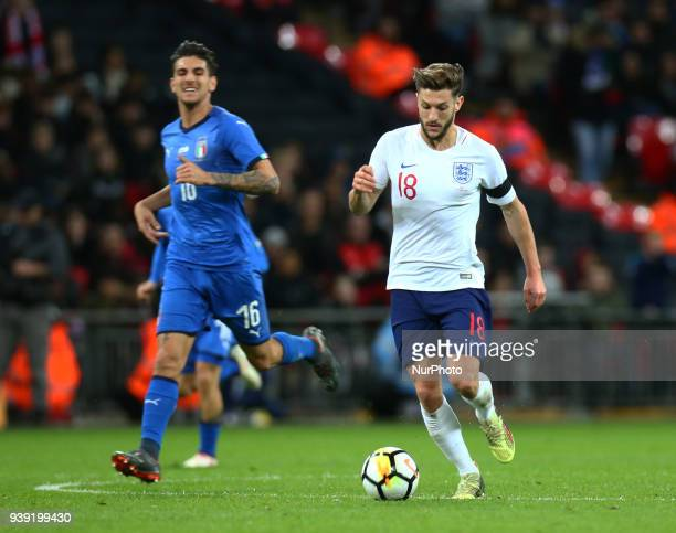 England's Adam Lallana during International Friendly match between England against Italy at Wembley stadium London England on 27 March 2018