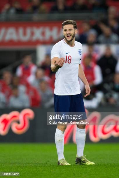 England's Adam Lallana during the International Friendly match between England and Italy at Wembley Stadium on March 27 2018 in London England