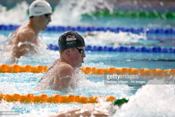 England's Adam Peaty in action in the Men's 50m Breaststroke Final at Tollcross Swimming Centre during the 2014 Commonwealth Games in Glasgow