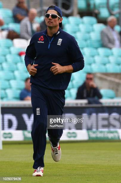 England's Alastair Cook during International Specsavers Test Series 5th Test match Day Two between England and India at Kia Oval Ground, London,...