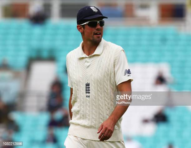 England's Alastair Cook during International Specsavers Test Series 5th Test match Day Five between England and India at Kia Oval Ground, London,...