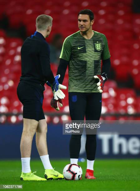 England's Alex McCarthy during the friendly soccer match between England and USA at the Wembley Stadium in London England on 15 November 2018