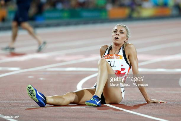 England's Alexandra Bell after the Women's 800m Final at the Carrara Stadium during day nine of the 2018 Commonwealth Games in the Gold Coast...