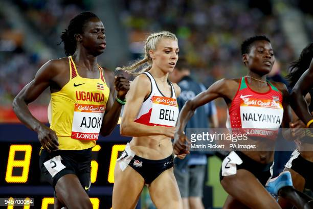 England's Alexandra Bell competes in the Women's Women's 800m Final at the Carrara Stadium during day nine of the 2018 Commonwealth Games in the Gold...