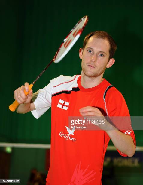 England's Andy Ellis during a photocall at the National Badminton Centre Milton Keynes