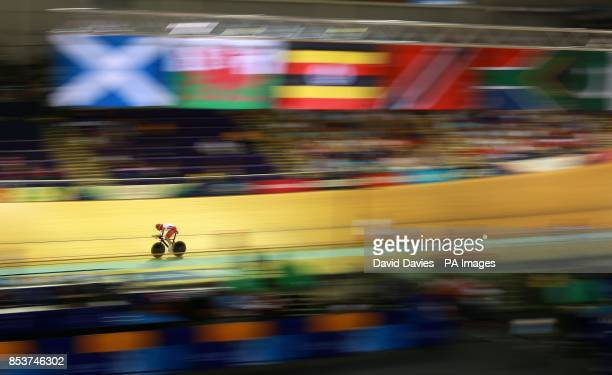England's Andy Tennant during the Men's 4000m Individual Pursuit at the Sir Chris Hoy Velodrome during the 2014 Commonwealth Games in Glasgow