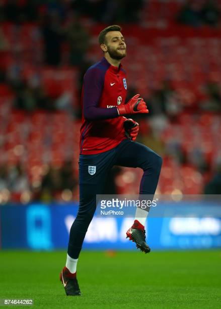 England's Angus Gunn during International Friendly match between England and Brazil at Wembley stadium London on 14 Nov 2017