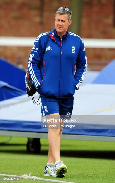England's Ashley Giles during day two of the tour match at Grace Road, Leicester.