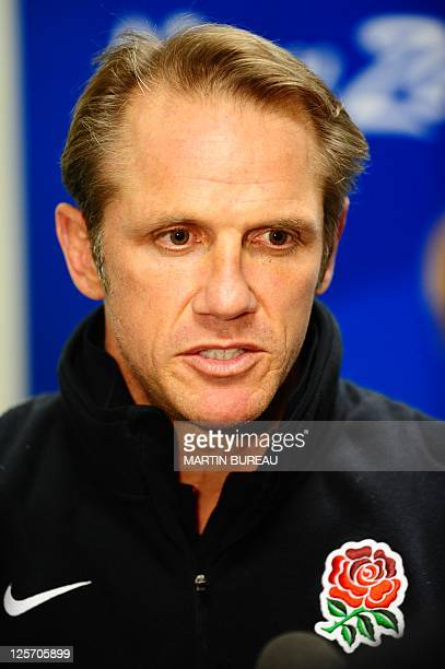 England's attack coach Brian Smith gives a press conference on September 19 2011 in Dunedin during the 2011 Rugby World Cup AFP PHOTO / MARTIN BUREAU