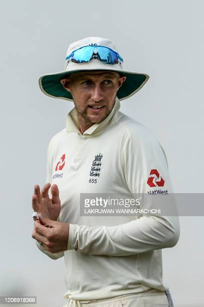 England's captain Joe Root leaves the ground after the second day of a four-day practice match between Sri Lanka Board President's XI and England at...