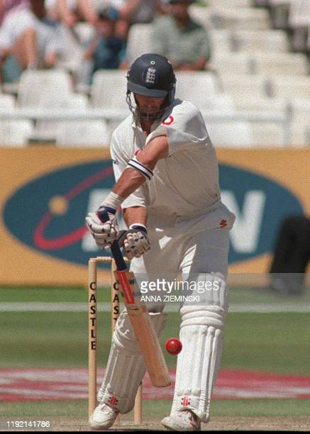 England's captain Nasser Hussain notched up 16 runs in the match against South Africa played at Newlands, Cape Town 05 January 2000, the fourth day...