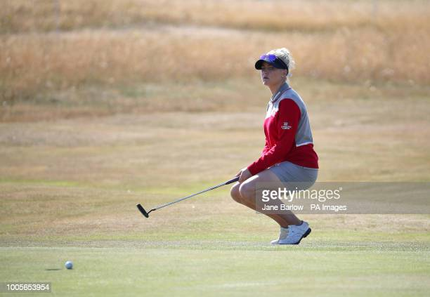 England's Charley Hull after missing a chance for an eagle on the 16th green during day one of the 2018 Aberdeen Standard Investments Ladies Scottish...