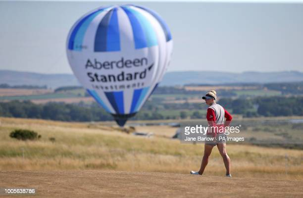 England's Charley Hull makes her way to the 15th tee during day one of the 2018 Aberdeen Standard Investments Ladies Scottish Open at Gullane Golf...