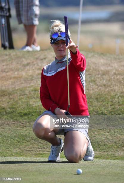 England's Charley Hull on the 14th green during day one of the 2018 Aberdeen Standard Investments Ladies Scottish Open at Gullane Golf Club Gullane