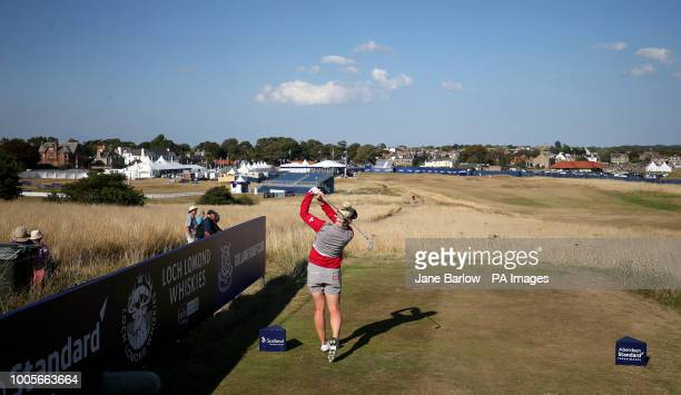 England's Charley Hull on the 18th tee during day one of the 2018 Aberdeen Standard Investments Ladies Scottish Open at Gullane Golf Club Gullane